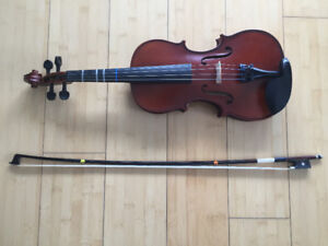 Carlo Robell 3/4 Violin – FREE Bow, Case, Rosin, Pad, Stand