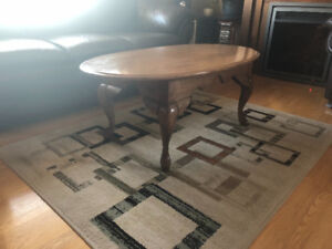 Wood coffee and end tables