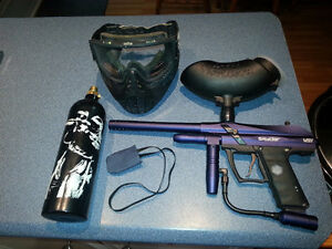 Complete set of paintball gear