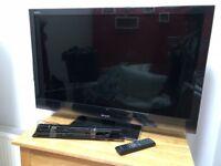 "40"" LCD 1080p HD TV SHARP LC-40LU700E with Wall Mount"