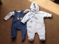 Mothercare winter outfit with matching snowsuit age newbo