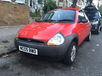 Red Ford KA 1.3 2005 Petrol / Low Mileage - 49,000 / 12 Months MOT 24 July 2017 - Female Owner