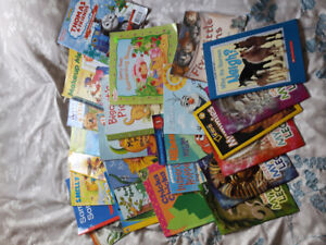 Various baby/toddler/kids books, toys and puzzles