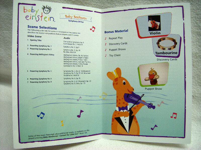 baby einstein Baby Beethoven Symphony of Fun DVD   CDs ...