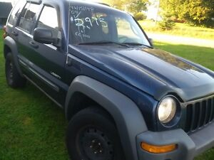 2004 JEEP LIBERTY 4x4 today 1850$