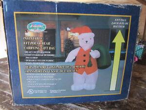 Ours polaire gonflable de 8 pieds (Noël)