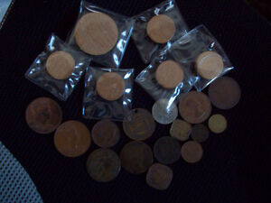 Vintage Coins & Tokens & Wooden Nickels