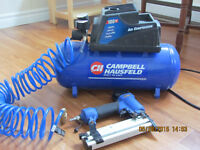 Campbell Hausfeld 3-Gallon Compressor with 2-in-1 Nailer