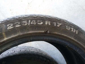 Two Continental Tires off BMW 17 Inch Low Profiles