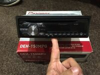 Pioneer DEH - 150MPG stereo with front aux port