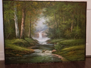 Forest Painting 4' x 3' oil on canvas by J Bell