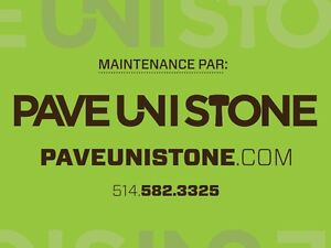 PAVE_UNI STONE - UNISTONE CLEANING , SEALING AND RE-LEVELLING - West Island Greater Montréal image 2