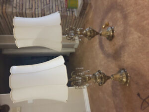 Large vintage table lamps