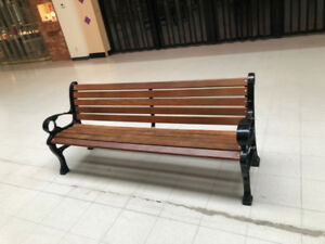 Retail benches and garbage cans for sale