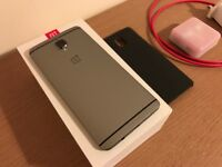 OnePlus 3 - 64 Gb Graphite - With Sandstone Case and Silver Bullets