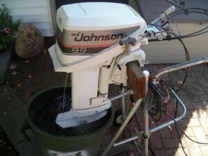 9.9 HP Johnson Outboard/electric start/remote controls