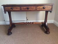Antique three drawer writing desk