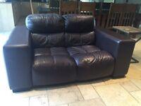Fantastic brown leather sofa