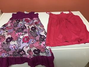 Girls size large 725 dress and new point zero girl tank top!!