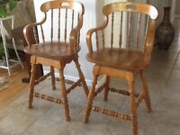 Bar stools $45. For the pair