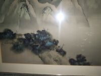 """Chinese Artist David Lee """"The Mountains"""" 1978 Framed Lithograph?"""
