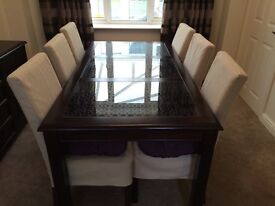 Dining room table with 6 chairs, Furniture Village