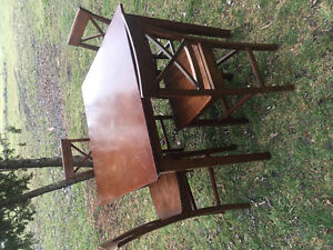 Hardwood dining table & 4 chairs