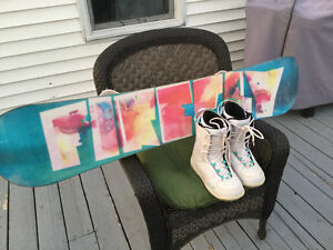 Ladies Snow Board and Boots