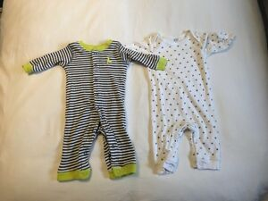 Carters Footless Sleepers 3 month