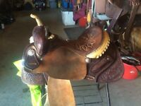 "14"" double j made barrel saddle. Trades?"