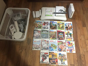 Nintendo wii with 19 games.