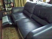 Natuzzi Editions Leather Sofa Recliner & Pushback Recliner Chair