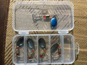 Fishing spinners (set of 5)