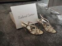 Roland Cartier Gold Metallic Sandals