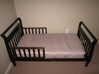 Toddler bed with mattress $50 obo.