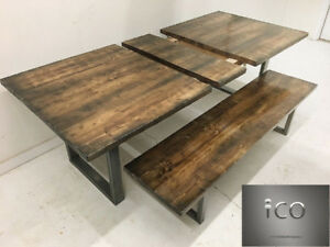 "84"" x 42"" Reclaimed and Rustic Dining room tables"
