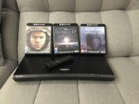 Samsung 4K UHD HDR Blu-ray Player plus 3 4K Movies Ultra High Definition