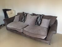 Large 4 Seater Sofa, Cuddle Chair & Footstool
