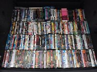 Over 250 DVDs. Various titles and genres