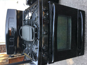 GE Profile black gas stove