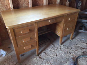 School Desk (Solid Wood) - Moving, must sell!