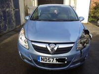 VAUXHALL CORSA 1.2 CLUB 3DR HATCHBACK DAMAGED SALVAGE REPAIRABLE