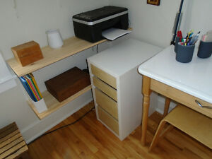 4 drawer storage table