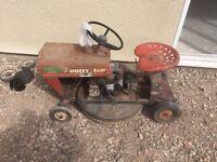 Huffy 5hp 1974 petrol ride on lawnmower