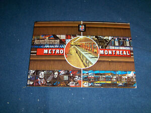 METRO STATION MONTREAL-UNUSED COLOR POSTCARD-MCGILL +