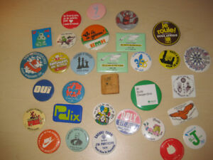 Macarons et epinglette - Pin-back buttons and pins - 80 articles