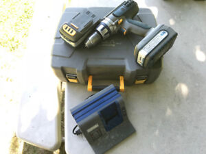 Cordless drill and impact gun