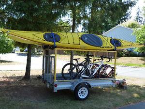 Necky 17ft Looksha touring kayak with THULE rack