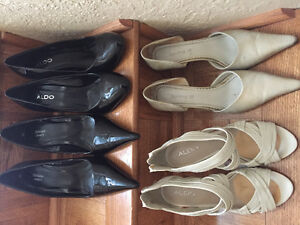 Various high heels sized 9-10 and one pair of Ugg boots sz 9