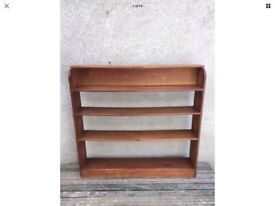 Antique Arts and Crafts Oak Bookcase / Wall Mounted Shelf.